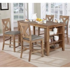 Kitchen Island Set Panda Cabinets Shop Delrio Rustic Weathered Natural By Foa Free Furniture Of America 5 Piece Counter Height Table