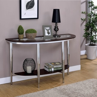 natal chrome and glass sofa table sagging support australia silver, console tables furniture for less | overstock.com