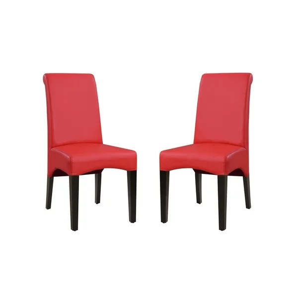 red tufted dining chair swivel leg caps shop emerald home briar ii traditional upholstered set of 2