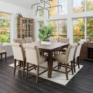 rustic kitchen sets renovate cost buy 9 piece dining room online at furniture of america leslie oak set