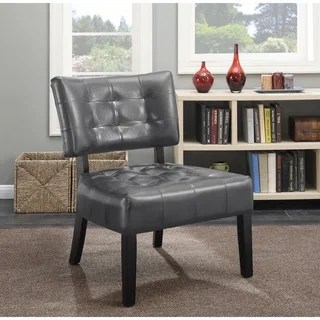 overstock com chairs paula deen buy slipper chair living room online at our porch den mcree faux leather tufted with oversized seating