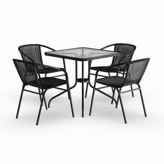 black rattan chair folding in costco patio furniture find great outdoor seating dining deals shopping at overstock com