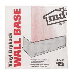 M-D Building Products  Wall Base  4 in. H x 120 ft. W Vinyl