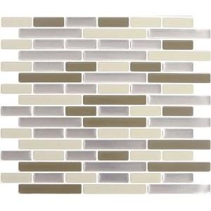 Peel and Impress  Vinyl  Adhesive Wall Tile  9.3 in. W x 11 in. L Desert Sand Oblong  4 pk