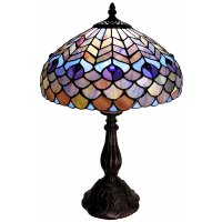 Warehouse of Tiffany Tiffany Style Peacock Table Lamp ...