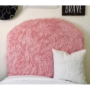 Mongolian Fur Pink Twin/Twin XL Headboard