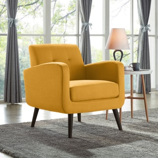 chair living room furniture designs for small buy yellow chairs online at overstock com our best carson carrington keflavik mid century mustard linen arm