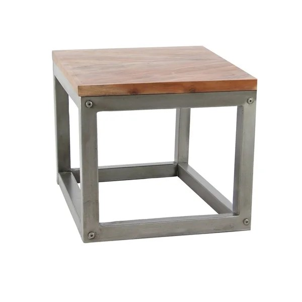modern 26 x 24 inch square side table