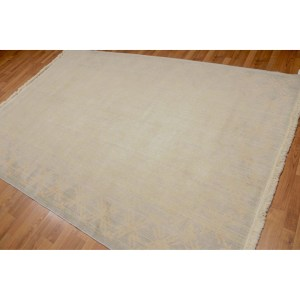 Modern Damask Oriental Hand Knotted Area Rug - Multi