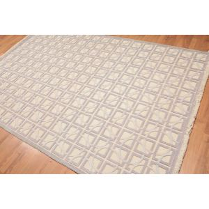 Modern High Low Pile Oriental Hand Knotted Area Rug - Multi