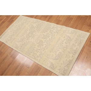 Transitional Accent Oriental Hand Knotted Area Rug - Multi