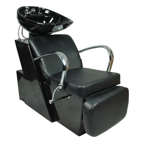 shampoo sink and chair top rated massage chairs shop backwash ceramic bowl station salon black