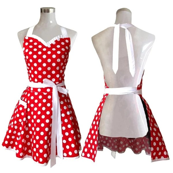 kitchen aprons remodel designs shop lovely sweetheart red retro on sale free