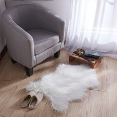 Faux Fur Chair Cover Ikea Poang Covers Shop Ottomanson Soft High Pile Sheepskin Seat Pad Shag Rug 2 X27