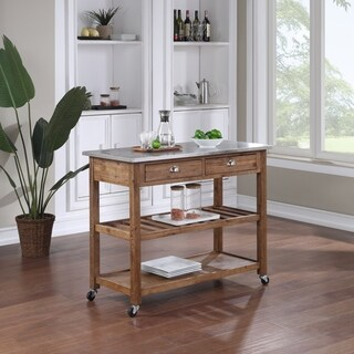 kitchen prep cart vintage looking appliances buy carts online at overstock com our best the gray barn firebranch wire brush