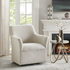 Living Room Swivel Glider Chairs Shop Madison Park Caddy Cream Chair 31 W X 29 D 34