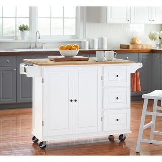 kitchen deals cabinet top decor buy islands online at overstock com our best 3 drawer drop leaf cart