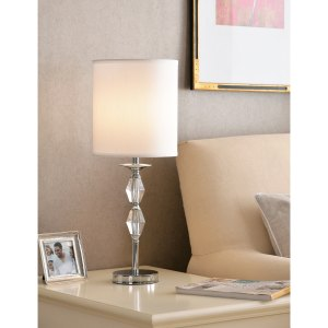 """Eloise 24.75"""" Accent Lamp - Chrome with Crystal Accents"""