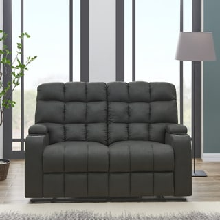 living room loveseats decorating ideas for curtains rooms buy online at overstock com our best strick bolton leighton grey microfiber 2 seat reclining storage loveseat