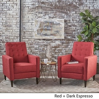 red living room furniture sets computer desk find great deals shopping at mervynn mid century fabric recliner club chair set of 2 by christopher knight