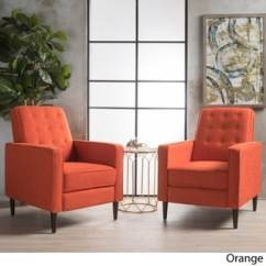 Orange Living Room Chair Red And Brown Decor Furniture Find Great Deals Shopping Customer Ratings