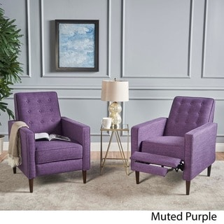 purple living room chair galway covers contact number buy chairs online at overstock com our best mervynn mid century fabric recliner club set of 2 by christopher knight
