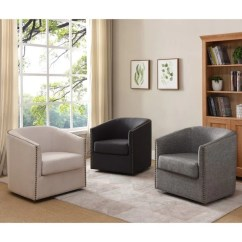 Jerome's Swivel Chairs Target Baby Shower Chair Shop Furniture Of America Tyndale Linen Accent On