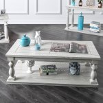 Buy Off White Shabby Chic Coffee Console Sofa End Tables Online At Overstock Out Of Stock Included Our Best Living Room Furniture Deals
