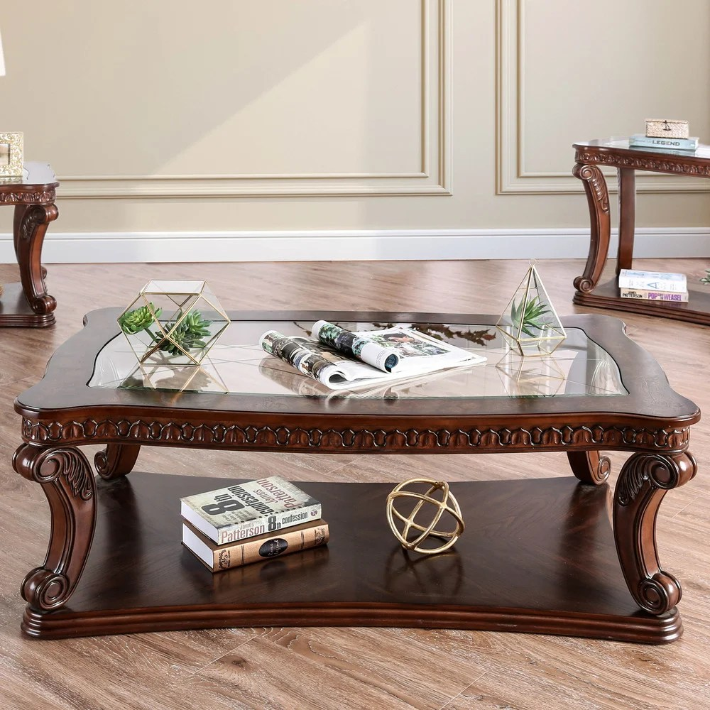 furniture of america furniture of america rend traditional espresso solid wood coffee table dark oak from overstock com daily mail