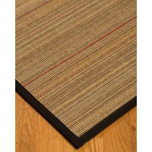 """NaturalAreaRugs Resort Sisal Carpet Runner Made in USA Black Border (2' 6"""" x 8') - multi-color - N/A"""