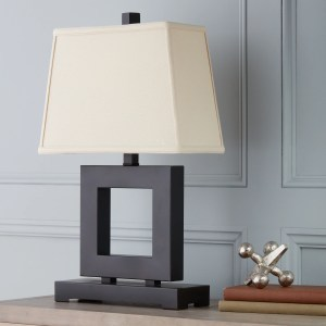 Patina/Bronze Metal Square Table Lamp