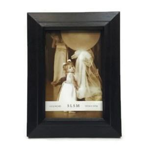 "Elegance 5x7"" Wood Phonto Frame, Narrow Border, Black Color"