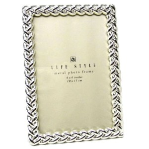 """Elegance 5x7"""" Silver Knotted Border Photo Frame"""