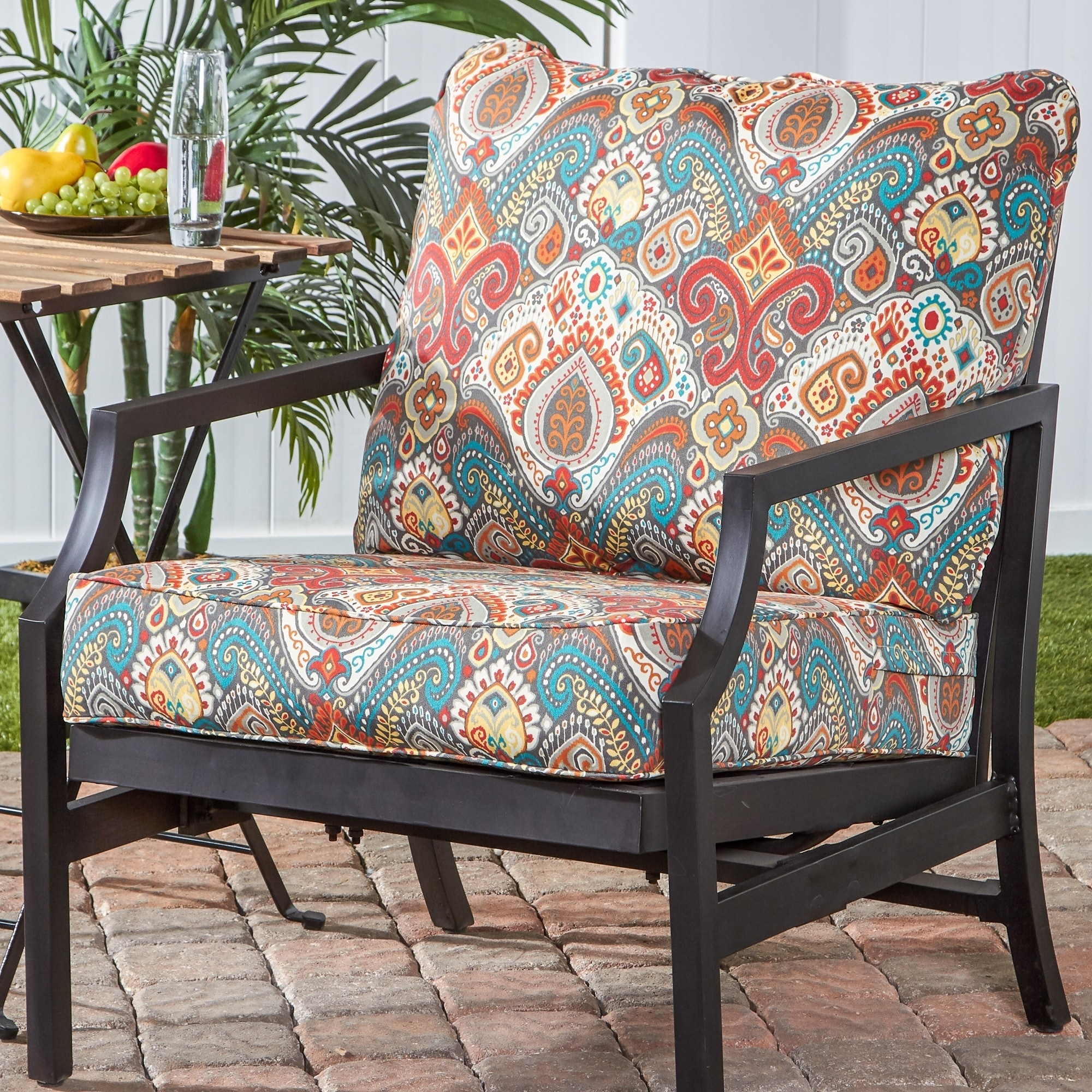 greendale deep seat outdoor back and seat cushion set