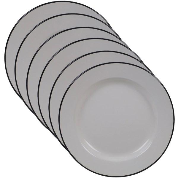 Certified International Enamelware 10.25- Dinner Plate Set Of 6