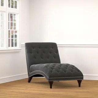 white chaise chair upholstered living room chairs buy lounges online at overstock com our copper grove van leeuwenhoek dark grey velvet snuggler