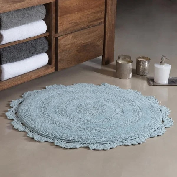 Shop Winchester Crochet Border Tufted Bath mat - On Sale - Free Shipping On Orders Over $45 - Overstock - 20718983
