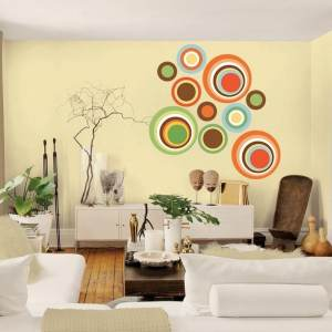 "Color Circles Full Color Wall Decal Sticker AN-358 FRST Size22""x27"""