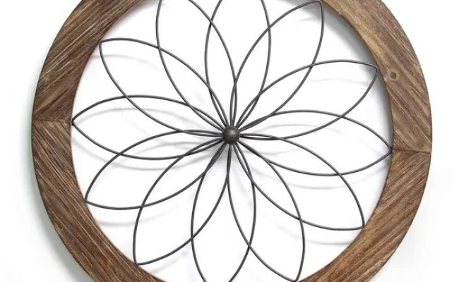 Shop Stratton Home Decor Round Wood And Metal Medallion
