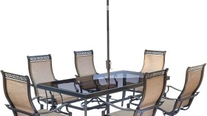 Shop Hanover Monaco 7 Piece Dining Set With Sling Swivel