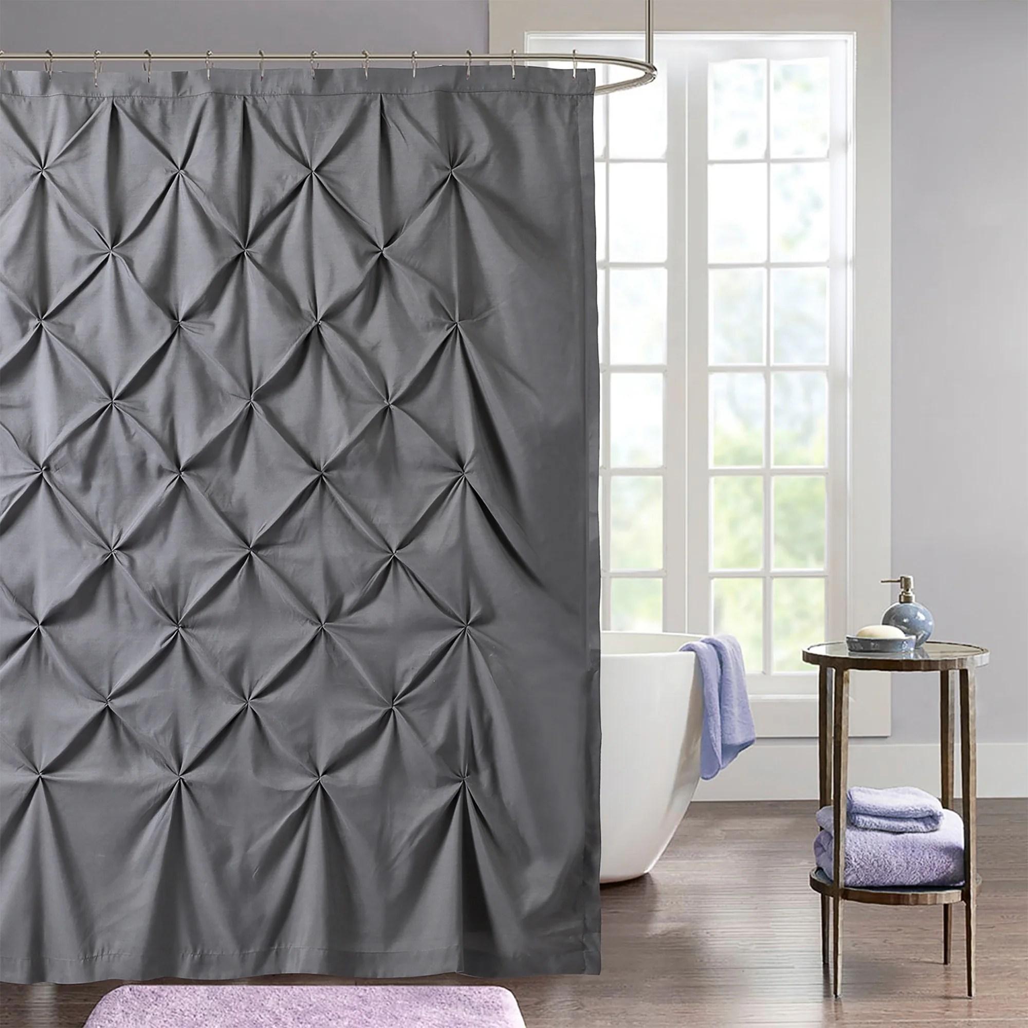 hudson pintuck fabric shower curtain 72 x72 grey