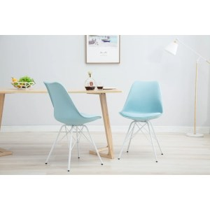 Porthos Home Midcentury Modern DSR Dining Room Chair, Easy Assembly