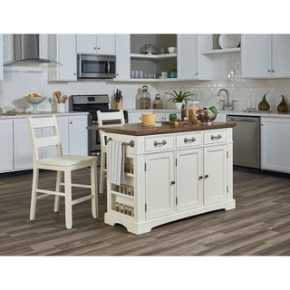 country kitchen islands commercial aid mixer shop osp home furnishings island with granite inlay top and drop leaf 2 stools n a