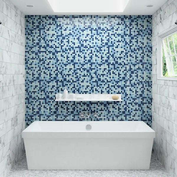 light blue 12 x 12 1x1 glass tile