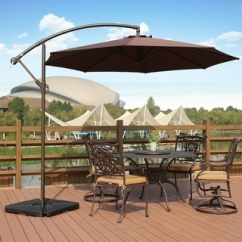 Chair King Umbrellas White Swivel Office Patio Shades Shop Our Best Garden Deals Online Weller 10 Ft Offset Cantilever Hanging Umbrella By Westin Outdoor