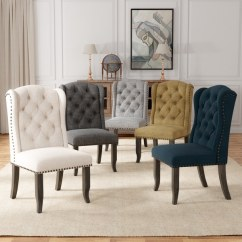 Wingback Dining Chairs Canada Graco High Chair Replacement Straps Shop Furniture Of America Telara Tufted Set 2