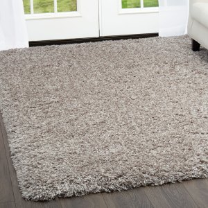 "Casey Gray Plush Shag Area Rug by Nicole Miller - 7'8""x10'2"""