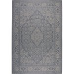 Patio Country Blue Gray Persian Indoor Outdoor Rug By Nicole Miller 7 9 X10 2