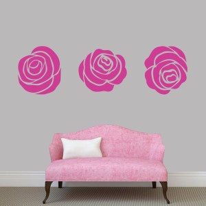 Set Of Roses Wall Decal Pack - MEDIUM