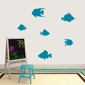 Set Of Fish Wall Decal Pack - MEDIUM